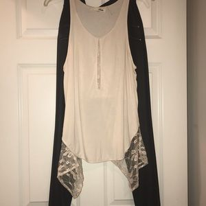 NWOT Cream Lace Top
